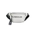 Stylish Letter BLINDCCJIA Printed Ribbon Embellishment Waist Belt Bag 21*17*6 CM