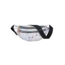 Popular Fashion Geometric Luminous Double Zipper Pocket Waterproof Utility Belt Bag 30*13*7 CM