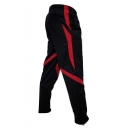 Men's Popular Fashion Colorblock Patch Zippered Vent Casual Sports Sweatpants