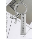 Popular Funny Letter YOU ARE MY LOBSTER Silver Key Ring