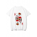 Freddie Mercury Funny Poker Card Print White Short Sleeve Tee