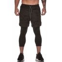 Men's New Stylish Cool Camouflage Printed Double Layer Quick-drying Sports Sweatpants