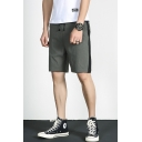 Summer New Fashion Colorblock Patch Men's Drawstring Waist Casual Relaxed Shorts