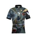 Mens Hot Popular Cool 3D Print Short Sleeve Slim Polo Shirt