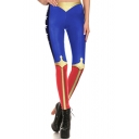 Womens Hot Popular Cute Cartoon Style Elastic Waist Skinny Fitted Legging Pants