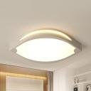 Modern Stylish Leaf Ceiling Mount Light Acrylic Metal LED Flush Light in Warm/White for Hallway
