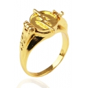 Cool Unique Flash Logo Stylish Cover Gold Ring