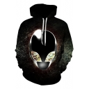 New Stylish Cool Galaxy Alien 3D Pattern Long Sleeve Pullover Hoodie