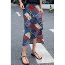 Trendy Womens Vintage High Waist Slit Side Casual Loose Midi Skirt