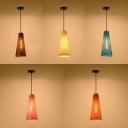 Rattan Cone Pendant Light Single Light Modern Hanging Light for Dining Room