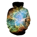 New Stylish Cool 3D Sea Plant Print Casual Sport Pullover Hoodie