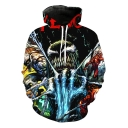 New Stylish Cool 3D Printed Long Sleeve Pullover Hoodie