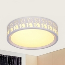 Contemporary White Flush Mount Light with Great Wall/Tree Metal Acrylic LED Ceiling Light with Third Gear/White Lighting