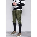 Medieval style Crisscross Tied Side Drawstring Waist Men's Fashion Retro Slim Fit Pencil Pants
