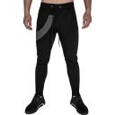 Men's Popular Fashion Colorblock Patched Drawstring Waist Slim Fit Casual Sports Pencil Pants