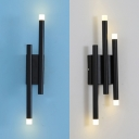 2/4 Head Linear Wall Light Modern Style Metal Sconce Lighting for Bedroom Hallway