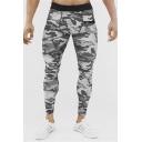 Men's Fashion Popular Camouflage Letter GUM Printed Skinny Fitness Pants