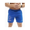 Men's Summer Trendy Letter Printed Elastic Waist Casual Breathable Sports Sweat Shorts