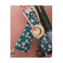 New Stylish Cool Sweet Floral Printed Strap Sleeveless High Waist Shirred Casual Loose Chiffon Jumpsuits