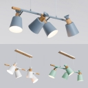 Modern Style Cup Island Pendant Metal 4 Heads Gray/Green/White Island Chandelier for Kitchen