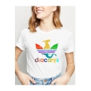 New Popular Dragon Dracarys Printed Round Neck Short Sleeve White T-Shirt