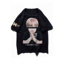 Guys Street Hip Hop Style Letter Boy Printed Casual Oversized T-Shirt