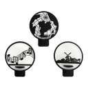 Metal Globe/Note/Windmill Wall Light Nordic Style Black LED Sconce Light with Warm Lighting for Boys Bedroom