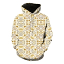 Funny Unique Pattern Basic Long Sleeve Loose Sport Pullover Hoodie