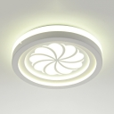 Slim Panel Flush Mount Light Modern Simple Acrylic Third Gear Color-Changing Ceiling Fixture for Bedroom