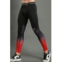 Fashion Contrast Printed Quick Drying Breathable Skinny Elastic Gym Pants