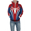 New Stylish Cool 3D Spider Pattern Long Sleeve Casual Loose Sport Hoodie