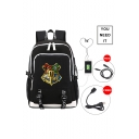 Fashion Hogwarts University Badge Creative USB Charging School Bag Backpack for Students 30*15*44cm