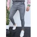 Men's Hot Fashion Stripes Pattern Slim Fit Casual Pencil Pants