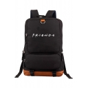 Popular Letter FRIENDS Printed Outdoor TRavel Bag Backpack 28*14*43cm