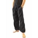 Men's Popular Fashion Simple Plain Loose Fit Casual Wide Leg Pants