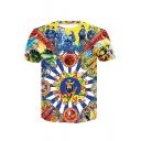 Popular Chinese Dynasty Emperor Print Short Sleeve T-Shirt