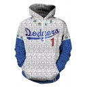 Popular Elton Blue and White Long Sleeve Sport Loose Pullover Cosplay Hoodie