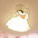Princess Girls Bedroom Ceiling Light Metal Cartoon LED Flush Mount Light in Warm/White/Stepless Dimming