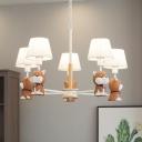 Animal Doggy Shape Chandelier Metal 5 Heads Gray/Orange Pendant Light for Kidnergarten Bedroom