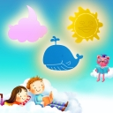 Cloud/Sun/Whale LED Sconce Light Kids Acrylic Sconce Lamp with White/Yellow Lighting for Child Bedroom