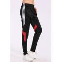 Men's Fashion Colorblock Striped Side Elastic Waist Running Sports Track Pants for Men