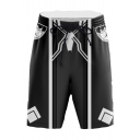 Men's Hot Fashion Popular Cosplay Spider Printed Drawstring Waist Casual Shorts