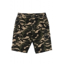 Summer New Fashion Cool Camouflage Printed Multi-pocket Casual Cotton Cargo Shorts