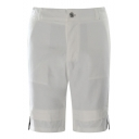 Men's Summer New Fashion Letter Print Ribbon Embellished Casual Chino Shorts