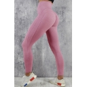New Arrival Simple Plain Fitted Stretch Yoga Legging Pants