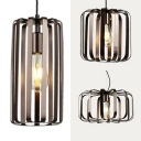 Vintage Stylish Bronze Pendant Light Cylinder Shape 1 Light Metal Suspension Light for Kitchen