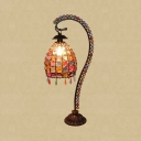 Moroccan Style Multi-Color Table Light Dome 1 Bulb Crystal Table Lamp for Office Living Room