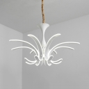 Acrylic Fireworks Pendant Light Restaurant Bedroom Creative Modern Chandelier with Warm/White Lighting