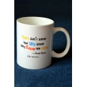 Popular Friends Classic Letter THEY DON'T KNOW Printed White Porcelain Mug Cup