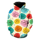 Funny Allover Crab 3D Printed Long Sleeve Sport Loose Pullover Hoodie